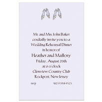 Bride and Bride Shoes Custom Wedding Invitation