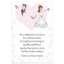 Wedding Couple Custom Wedding Invitation