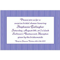 Passion Purple Ribbon Stripe Custom Invitation