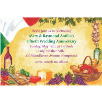 Italian Dinner Party Custom Invitation