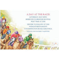 Racehorses Custom Invitation