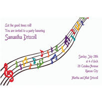 Dancing Music Custom Invitation