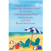 Day at the Beach Custom Invitations