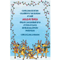 The Reindeer Decorating Fiasco Custom Christmas Invitation