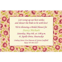 Kitschy Red Blooms Custom Invitation