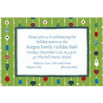 Ornament Stripes Custom Invitation