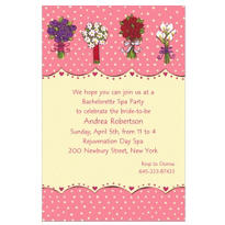 Array of Bouquets Custom Bridal Shower Invitation