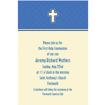 Simple Modern Cross Custom Invitation