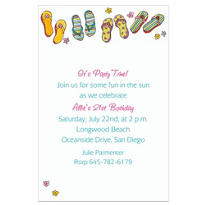 Funky Flip-Flops Custom Invitation