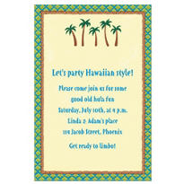 Row of Palm Trees Custom Invitation