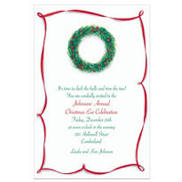 Wreath with Berries Custom Invitation