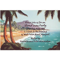 Disney Tropical Landscape Custom Invitation