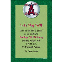 Los Angeles Angels Custom Invitation