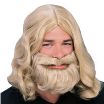Blonde Biblical Wig & Beard Set