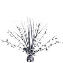Silver Foil Spray Centerpiece 12in