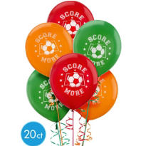 Soccer Latex Balloons 12in 15ct