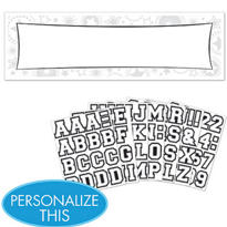 White Personalized Banner