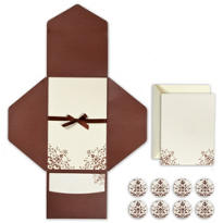 Brown Ivory Printable Wedding Invitations Kit 25ct