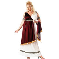 Adult Roman Empress Costume Plus Size