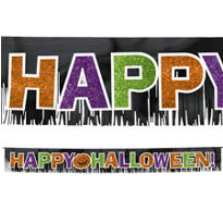 Happy Halloween Fringe Letter Banner 11 1/4ft