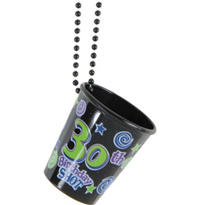 Number 30 Shot Glass Necklace