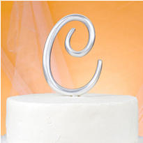Monogram C Wedding Cake Topper