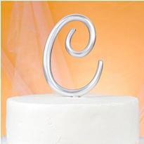 Monogram C Cake Topper