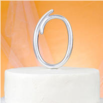Monogram O Wedding Cake Topper