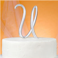 Monogram U Wedding Cake Topper