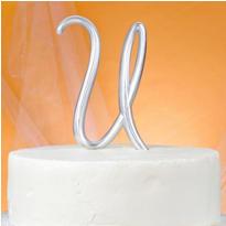 Monogram U Cake Topper