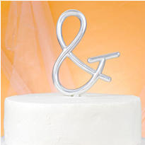 Monogram Ampersand Cake Topper