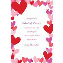 Hearts Custom Valentines Day Invitation