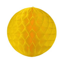 Yellow Honeycomb Ball 11in