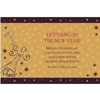 Midnight Toast Custom Invitation