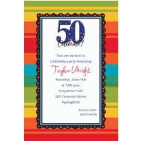 A Year to Celebrate 50th Birthday Custom Invitation