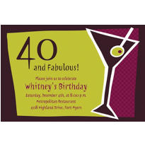 Shaken Martini Custom Invitation