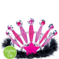 Light-Up Pink Gem Tiara