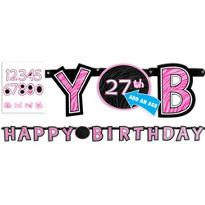 Another Year of Fabulous Custom Birthday Banner 7 1/2ft