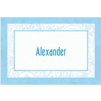 Custom Blue Radiant Cross Religious Thank You Notes