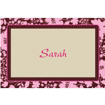 Cocoa Floral Pink Custom Thank You Note