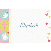 Sweet Christening Girl Custom Thank You Note