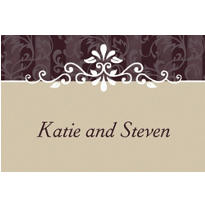 Ornamental Lines Taupe Custom Thank You Note
