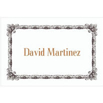 Black Moulding Border/White Custom Thank You Note