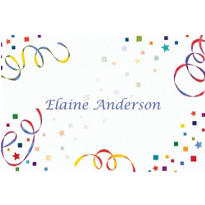 Confetti & Streamers Custom Thank You Note