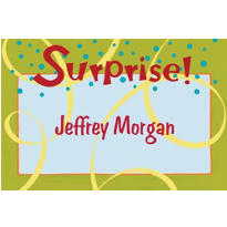 Surprise with Spirals Custom Thank You Note