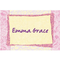 Pink Cross Collage Custom Thank You Note