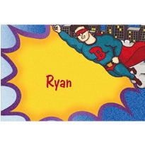 Flying Superhero Custom Thank You Note