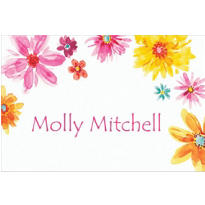 Big Painterly Flowers Custom Thank You Note