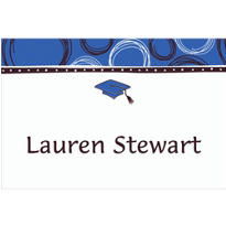 Mortarboard & Pattern Custom Thank You Notes