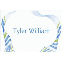 Flowy Tallis Masculine Custom Thank You Note